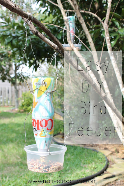 Easy DIY Bird Feeder made from It's Mine Diet Coke bottles