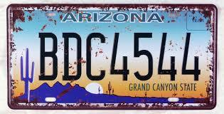 Plaque minéralogique Arizona