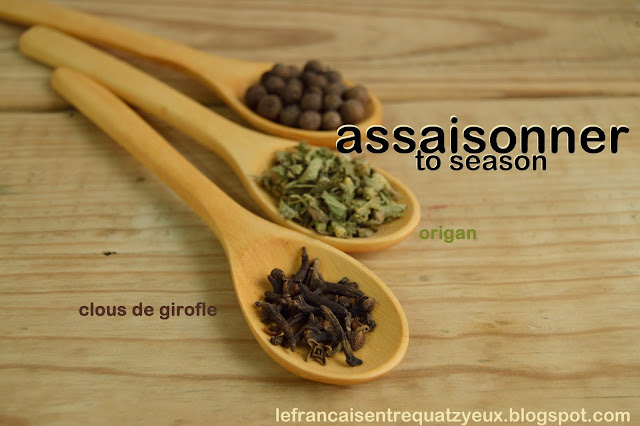 assaisonner season salt pepper french vocabulary cuisine