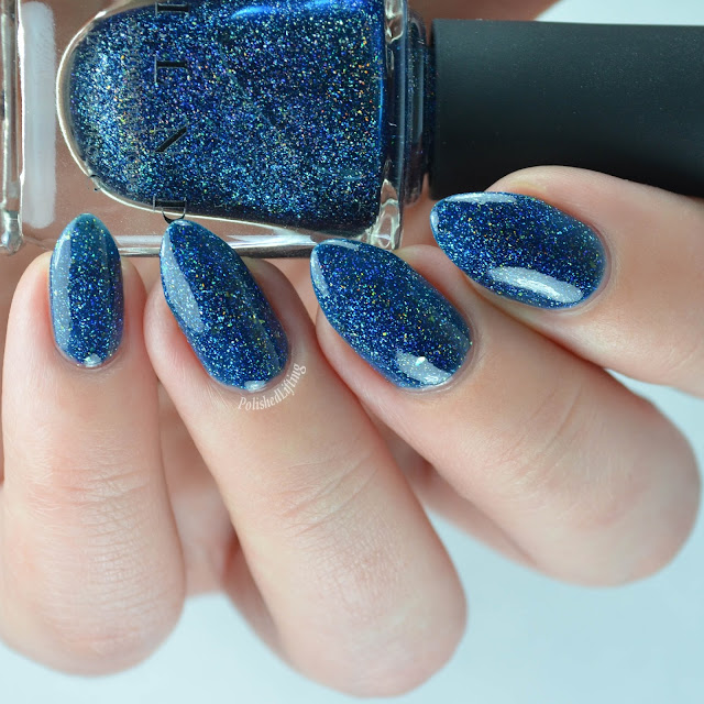 blue jelly holographic nail polish