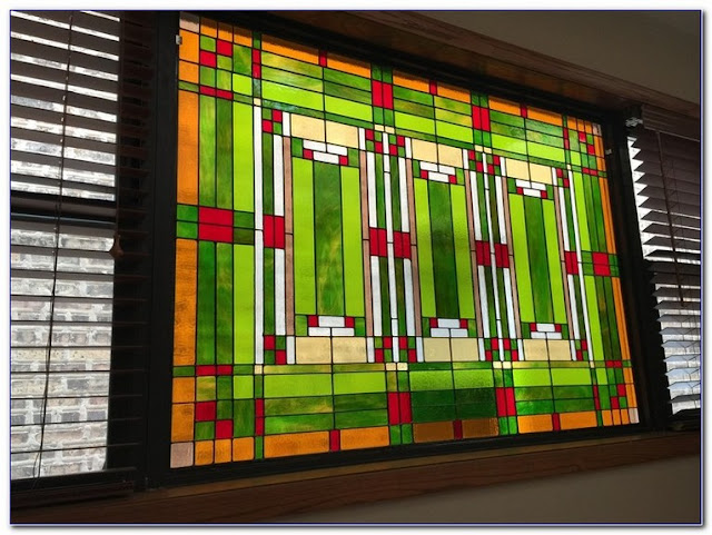 Best Frank Lloyd Wright Stained GLASS WINDOW Designs