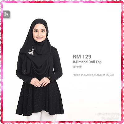 blouse hitam baimond