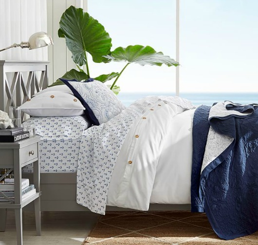 Stylish Nautical Navy Blue Amp White Decor From Pottery Barn