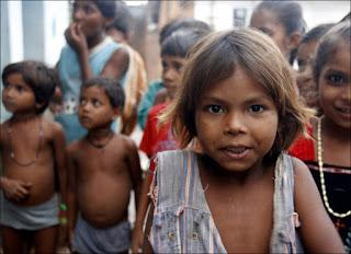 Enfants d'un village près de Khajuraho