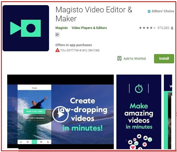 Magisto Video Editor Maker