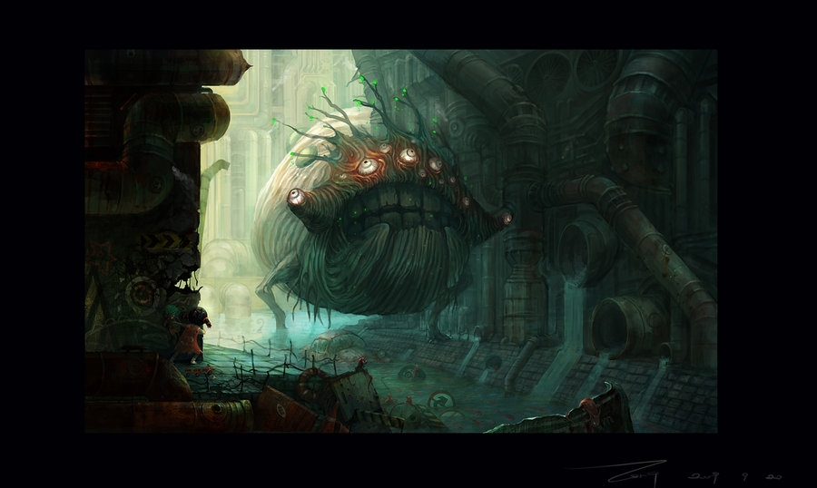 11-My-World-ZERG118-Dreams-Made-of-Fantasy-Worlds-and-Creature-Illustrations-www-designstack-co