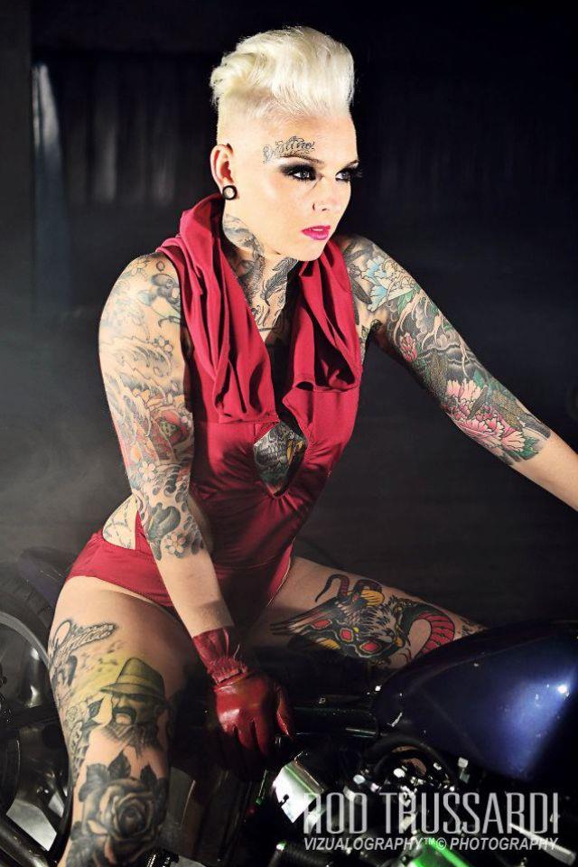 Mercenary garage may 2015 for Biker chick tattoos