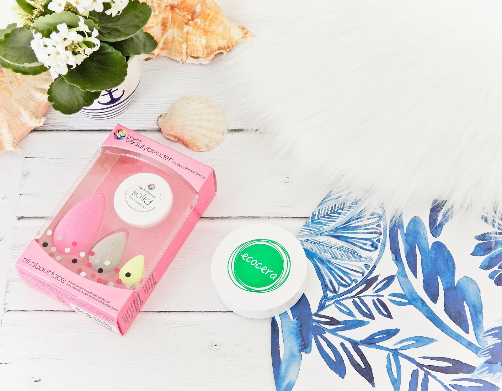 zestaw BeautyBlender All About Face, prasowany puder z Ecocery, haul zakupowy,