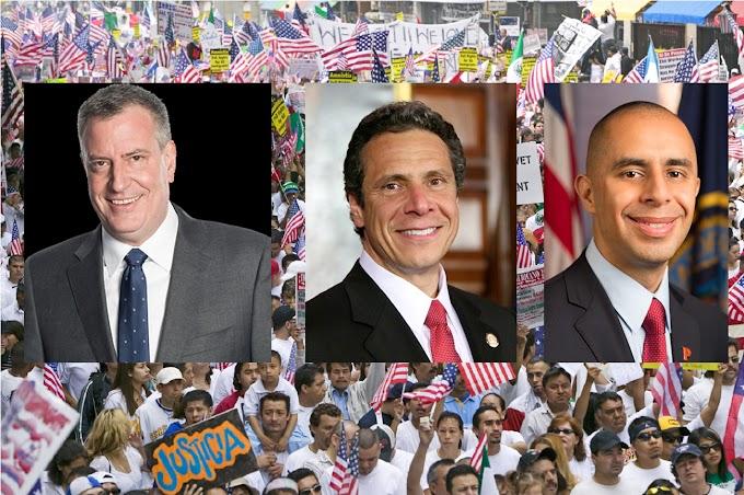 """Gobernadores y alcaldes desafían a Trump; defenderán inmigrantes """"a capa y espada"""""""