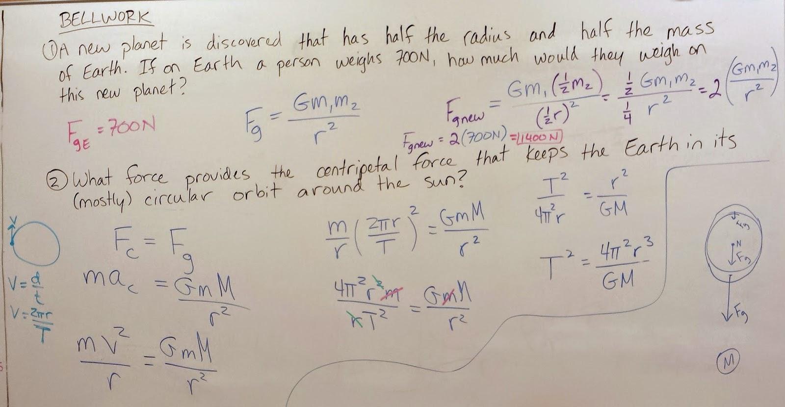 Gravity Worksheet Year 2