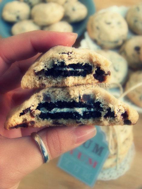 Cookies Preñás (rellenas de Oreo)