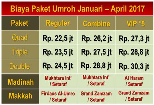 Paket Umroh April 2017 Harga Mulai Rp. 22,5 jt Seat Terbatas !