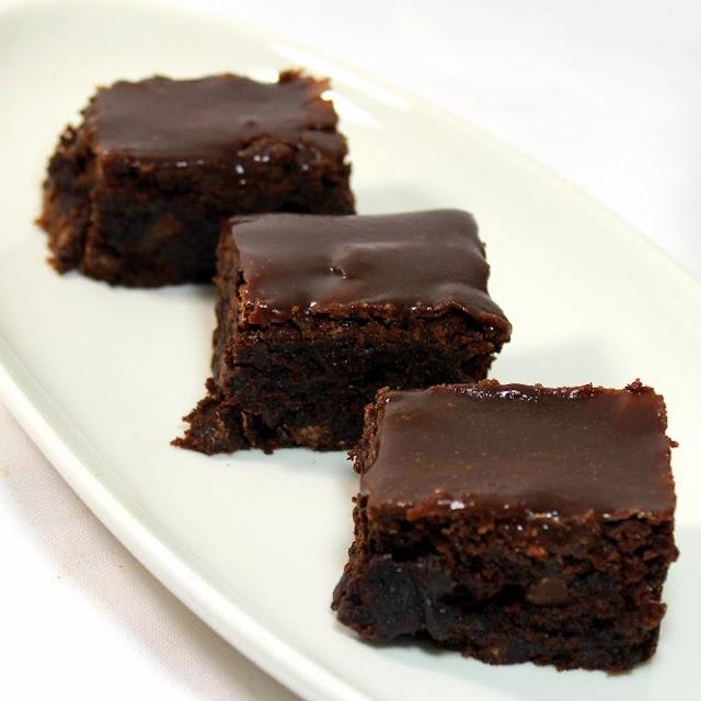 ... Chocolate Brownies with Chocolate Fudge Glaze - Church PotLuck Dessert