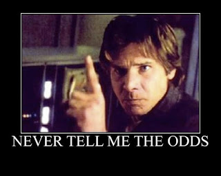 """Star Wars Han Solo says """"Never tell me the odds"""""""