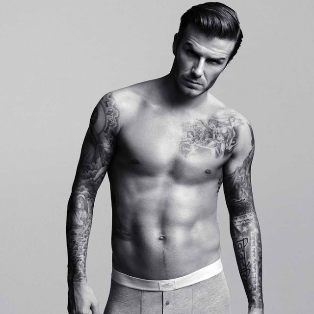 David Beckham tattoos sleeves,celebrity,blackandgrey