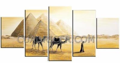 http://www.cuadricer.com/cuadros-pintados-a-mano-por-temas/cuadros-paisajes/cuadros-desierto-egipto/piramides-egipto-desierto-arena-camellos-cuadros-modernos-paisaje-2229-salones-comedores-cocinas.html