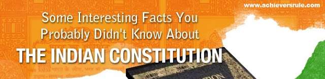 Important Keypoints about The Constitution of India