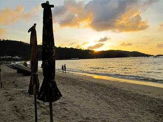 Sunset Patong Beach Phuket Thailand