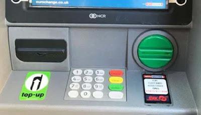 Mesin ATM dengan kamera tersembunyi
