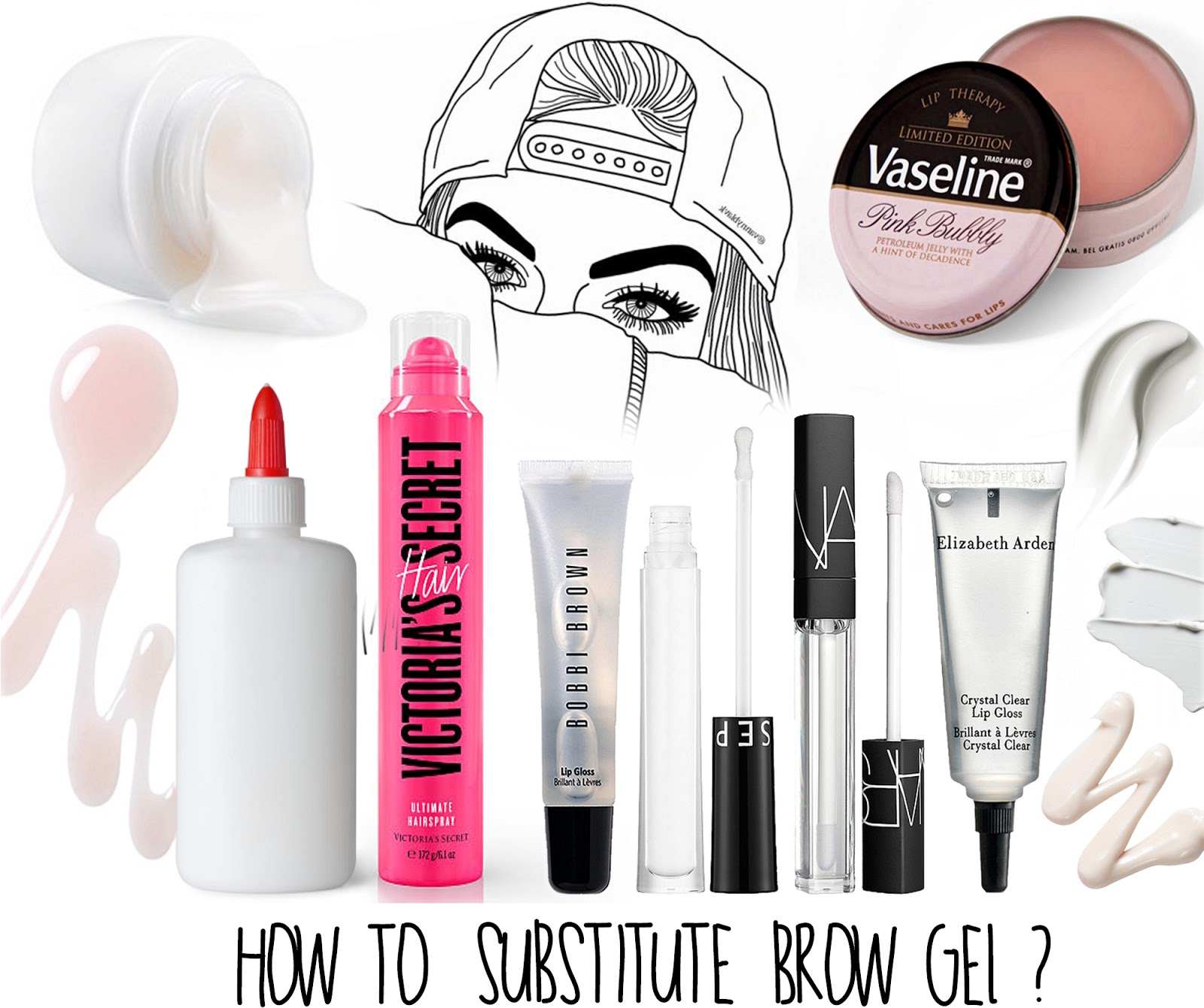 Substitute Brow Gel  alternatives for eyebrow gel brows