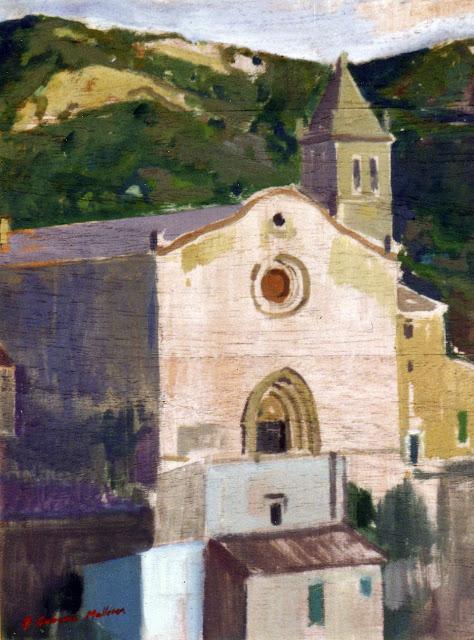 Alejandro Cabeza, Paisaje de Andratx, Mallorca en Pintura, Mallorca pintada, Paisajes de Mallorca