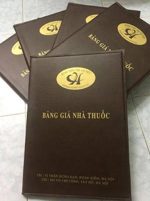 Cơ sở in quyển menu bìa da tại quận Hoàng Mai, Hà Nội