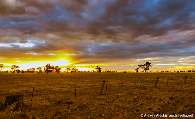 Beautiful sunset around Grampians National Park