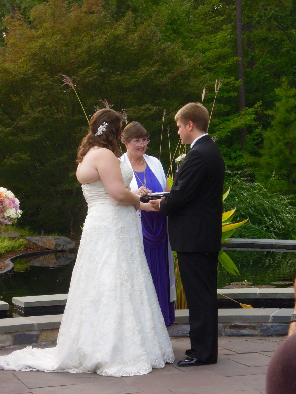 jessica and neils beautiful wedding at police wedding rings And now for the vows and exchange of rings They each read their words to each other from my book