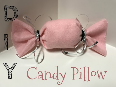 DIY How to Make a No Sew Candy Pillow