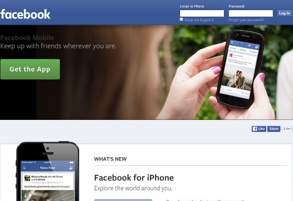 facebook desktop version link