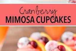 Cranberry Mimosa Cupcakes Recipe
