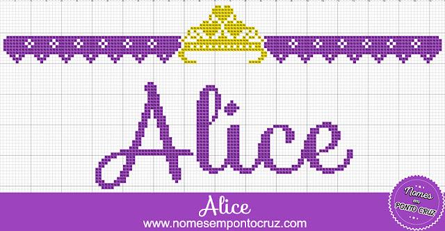 Nome Alice em Ponto Cruz