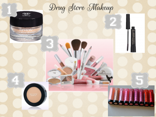 5 on Friday {Drugstore Makeup Edition}
