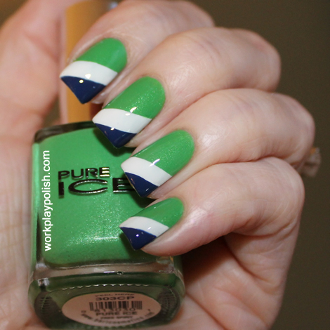 Preppy Striped Nail Art
