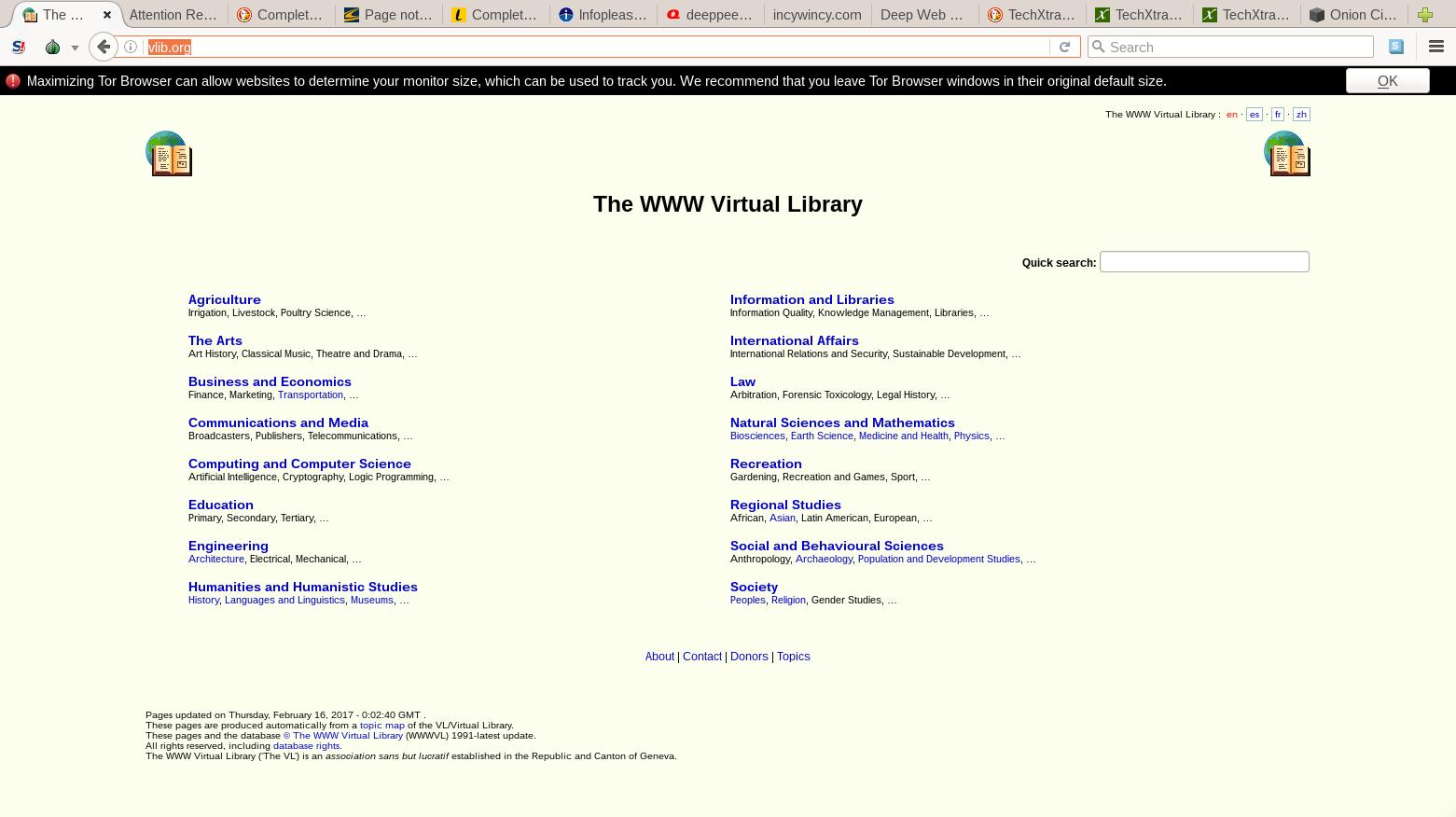 أشهر محركات البحث لـ Deep Web الويب العميق - Taje-Info