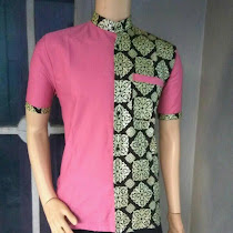 20 Model Baju Batik Pria Kombinasi Terbaru Mesin Jahit