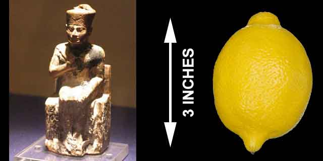 Fact #12: KHUFU'S TINY STATUE (learn more now)