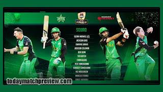 BBL T20 Final Stars vs Renegades Today Match Prediction Dream11 Squad