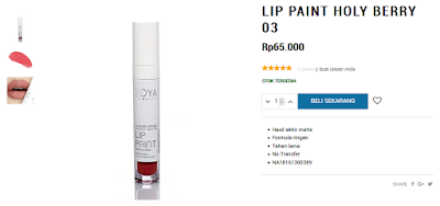 Review Harga Zoya Lip Paint