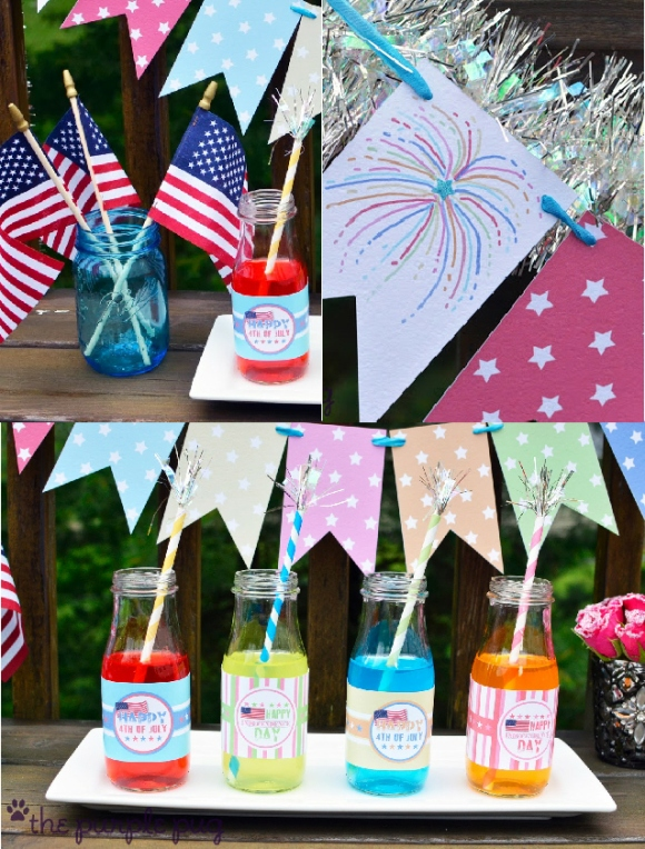 4th of July Free and Funky Printables - via BirdsParty.com