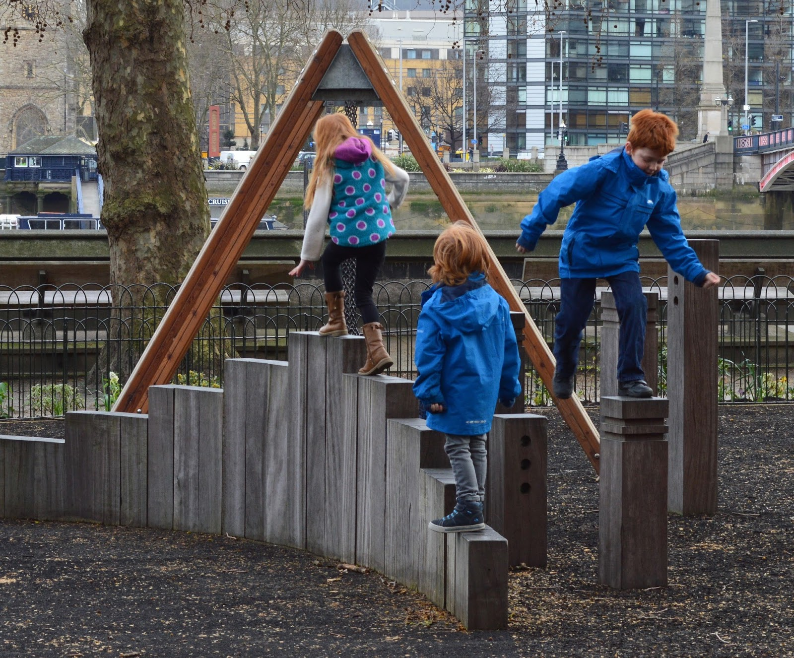 The Houses of Parliament Audio Tour for kids, A Review - Victoria Tower Gardens Playground