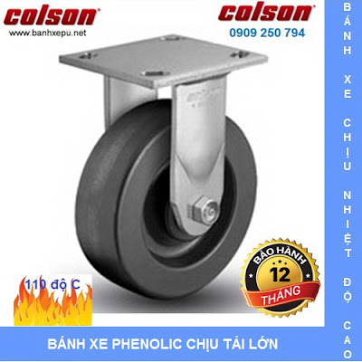 Bánh xe nhựa Phenolic chịu nhiệt lò hấp Colson Mỹ 5 inch | 4-5108-339 www.banhxedayhang.net