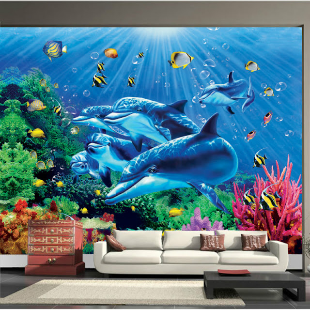 Dolphin Wall Mural Fisches