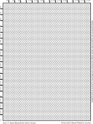 Brick Stitch Seed Bead Graph Paper