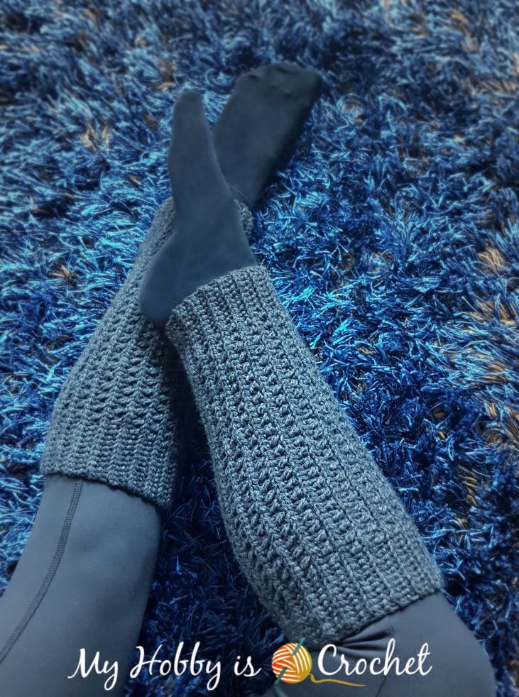 My Hobby Is Crochet Ribby Legwarmers Free Crochet Pattern