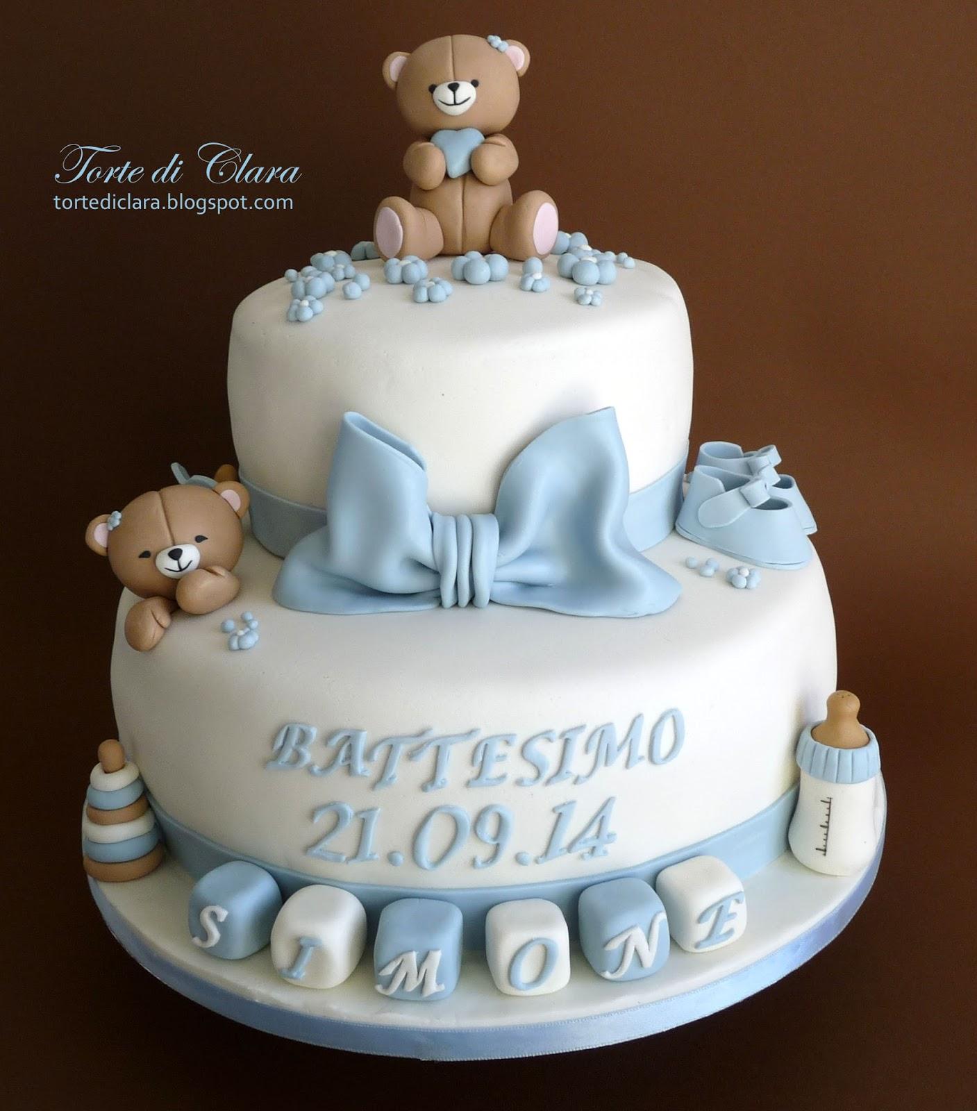 Estremamente Torte di Clara: Torta Battesimo (6) CU05