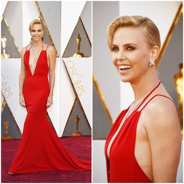 WHO WORE WHAT?.....88th Annual Academy Awards: Charlize Theron in Christian Dior