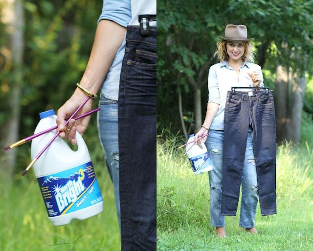 Çamaşır Suyu İle Kot Tasarımı