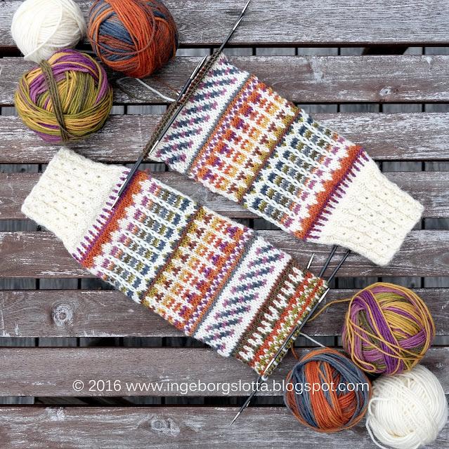 Höstsockor - autumnsocks novita stranded knitting mönsterstickning yarndominance garndominans
