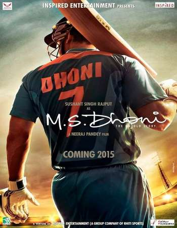 Poster Of M.S. Dhoni The Untold Story 2016 Hindi 200MB  HEVC Mobile Watch Online Free Download world4ufree.org